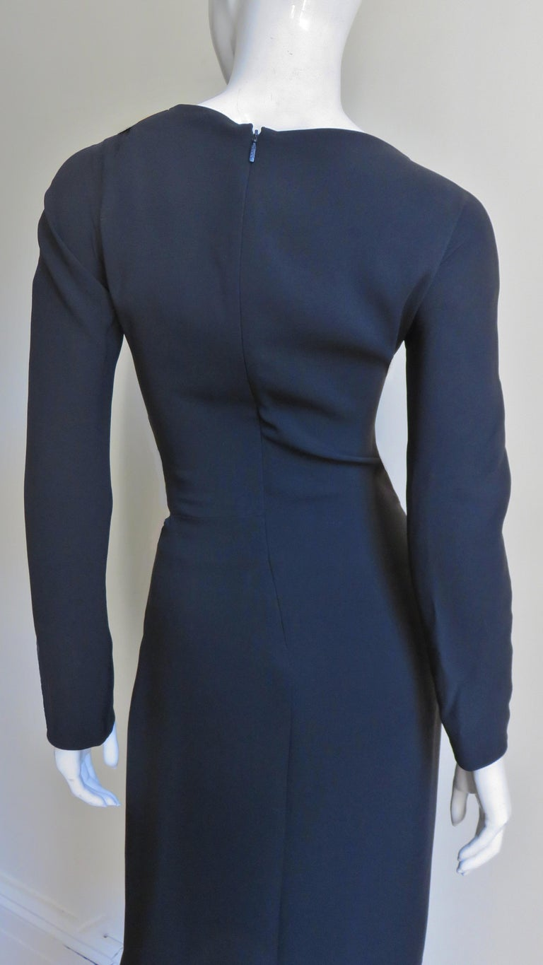Gucci New Silk Dress with Cut outs and Hardware For Sale 11