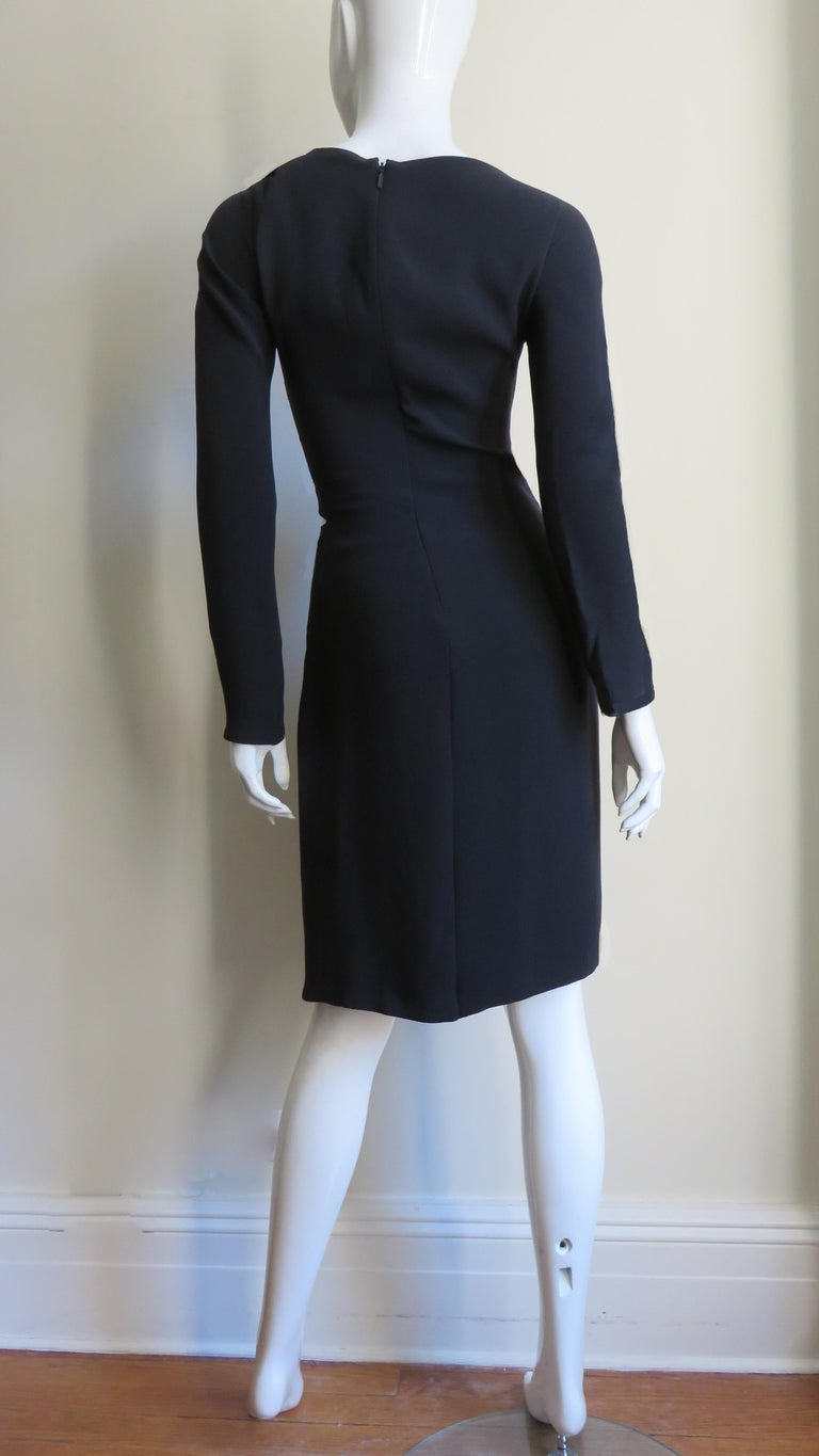 Gucci New Silk Dress with Cut outs and Hardware For Sale 13