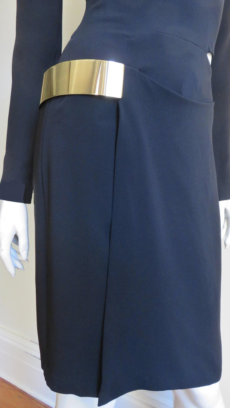 Gucci New Silk Dress with Cut outs and Hardware For Sale 1