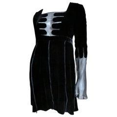Gucci New Velvet Silk Dress