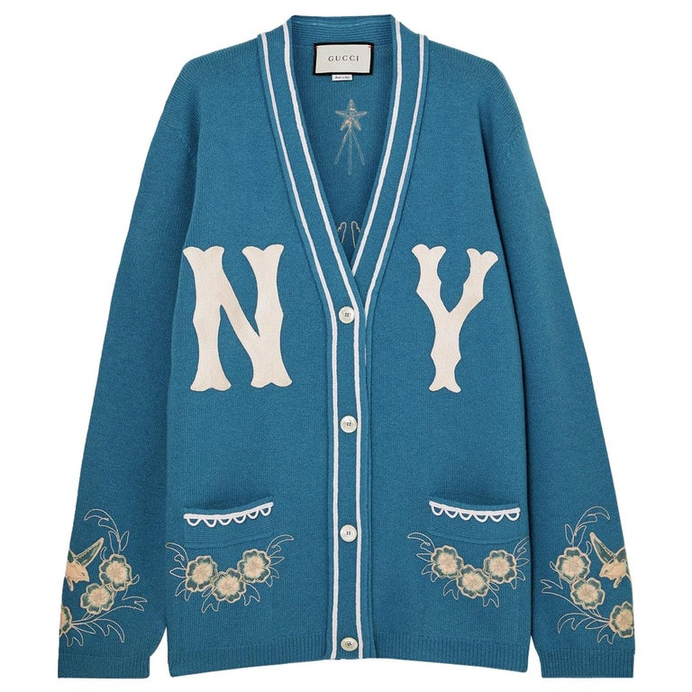 0346b837e2 Gucci + New York Yankees Oversized Appliquéd Wool Cardigan For Sale ...