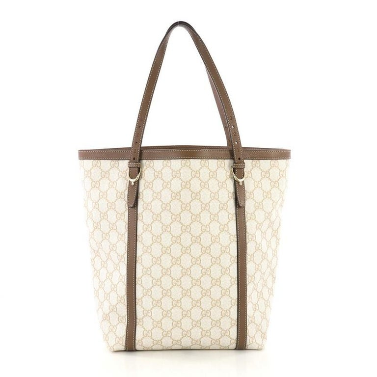 Gucci Nice Tote GG Coated Canvas Tall In Good Condition For Sale In New York, NY