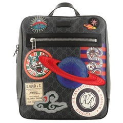 Gucci Night Courrier Backpack GG Coated Canvas with Applique
