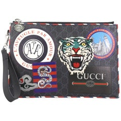 Gucci Night Courrier Pouch GG Coated Canvas with Applique