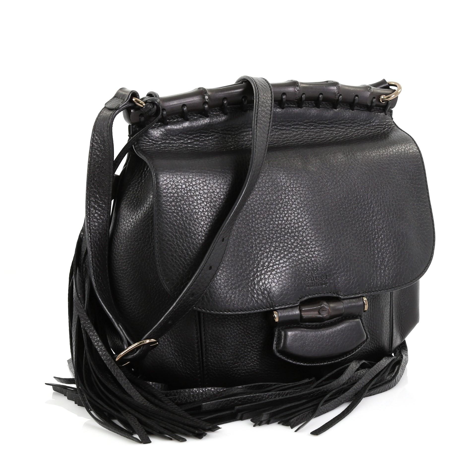 8fd746453 Gucci Nouveau Fringe Crossbody Bag Leather Medium at 1stdibs