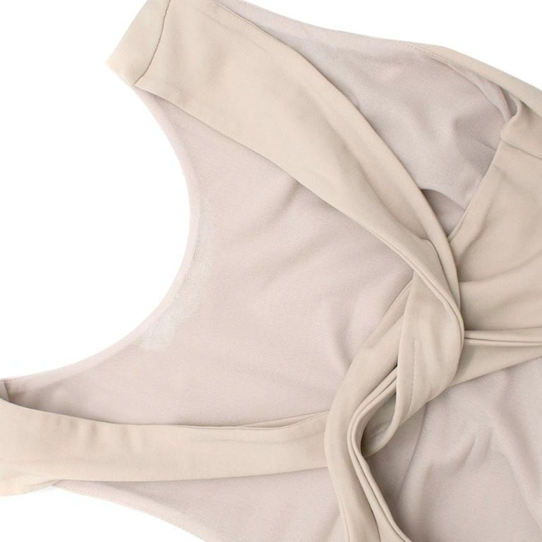 Gucci Nude Fitted Knot Back Dress S For Sale 1