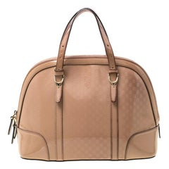 Gucci Nude Microguccissima Patent Leather Nice Satchel