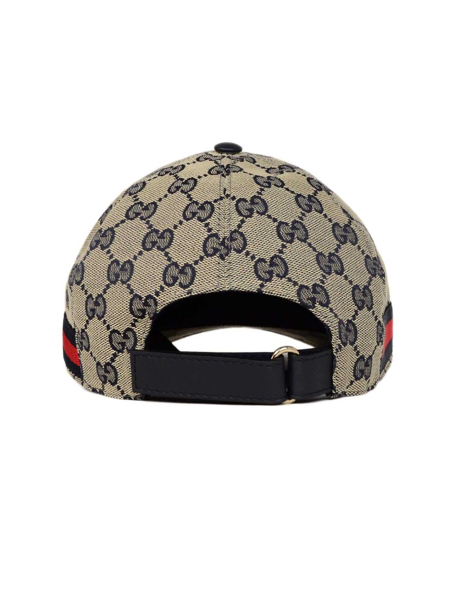Gucci NWT Navy Monogram Original GG Canvas Baseball Cap Hat W  Web Unisex  Sz M For Sale at 1stdibs 4c39ee7f8586