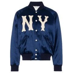 Gucci NY Yankees Appliquéd Satin Bomber Jacket