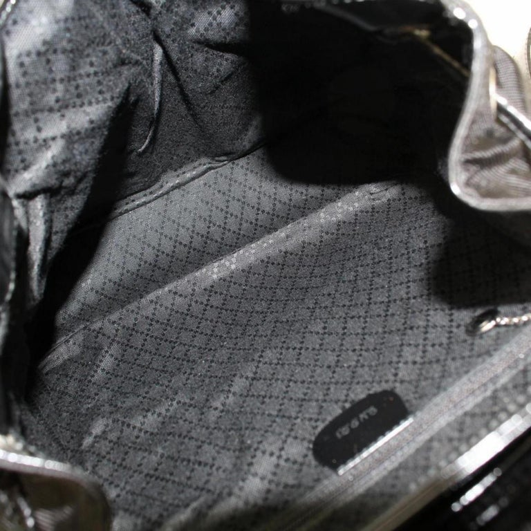 018fc4b22d85 Gucci Nylon Bamboo 867648 Black Patent Leather Backpack In Good Condition  For Sale In Forest Hills