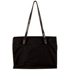 Gucci Nylon Canvas Tote Shoulder Bag