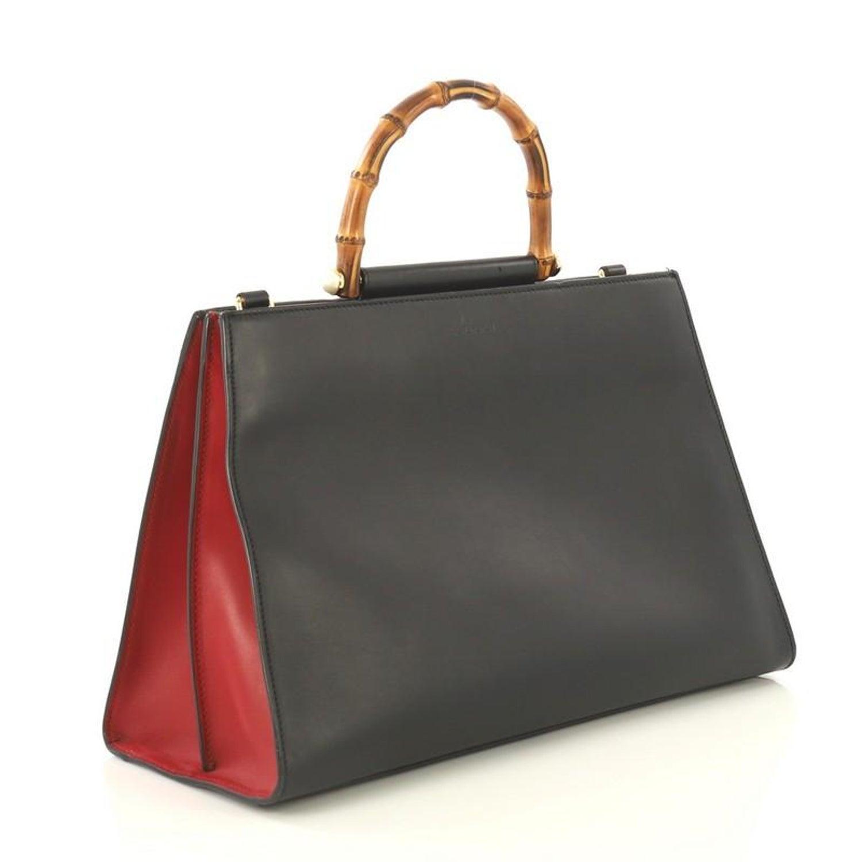 2055846fb2 Gucci Nymphaea Top Handle Bag Leather Medium