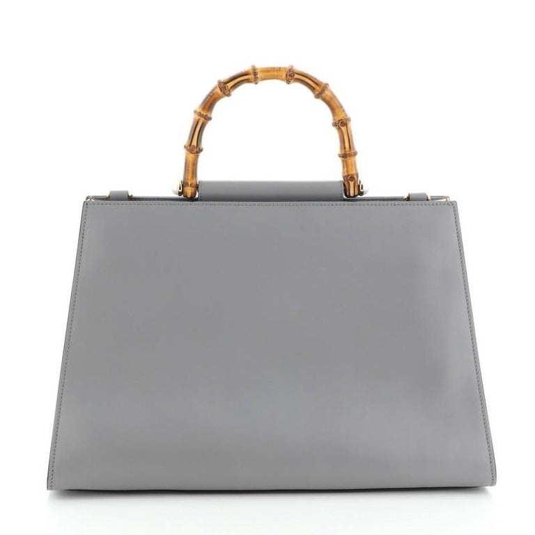 Women's or Men's Gucci Nymphaea Top Handle Bag Leather Medium For Sale