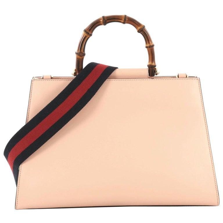 7de3c04d9 Gucci Nymphaea Top Handle Bag Leather Medium For Sale at 1stdibs