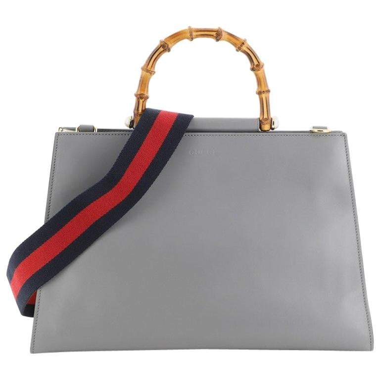 Gucci Nymphaea Top Handle Bag Leather Medium For Sale