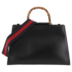 Gucci Nymphaea Top Handle Bag Leather Medium
