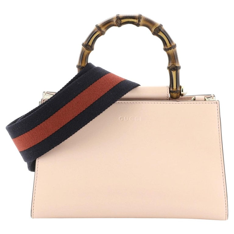 Gucci Nymphaea Top Handle Bag Leather Mini For Sale