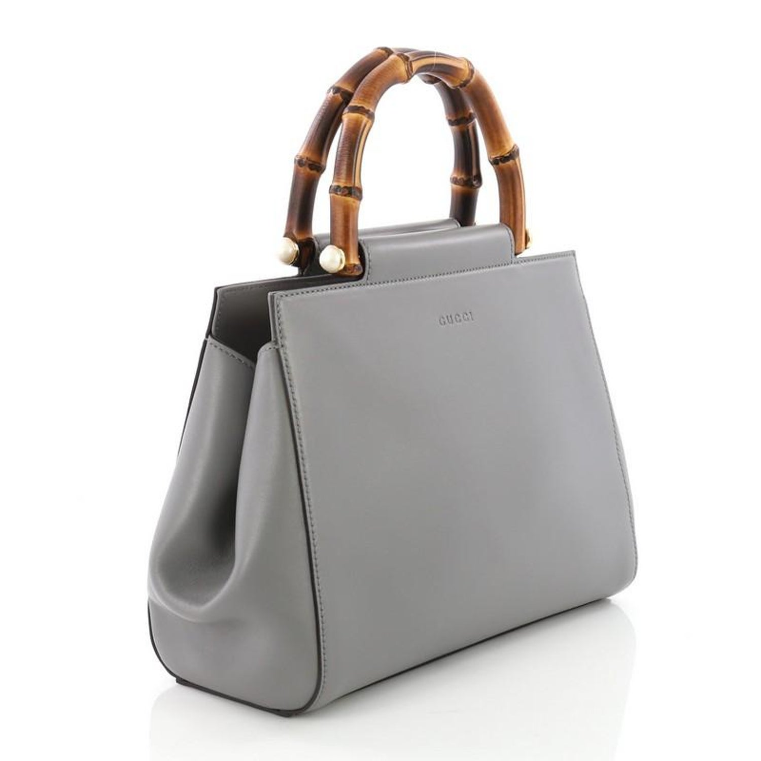 b7770b4873 Gucci Nymphaea Tote Leather Small