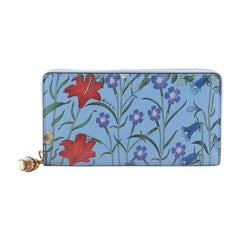 Gucci Nymphaea Zip Around Wallet Flora Leather