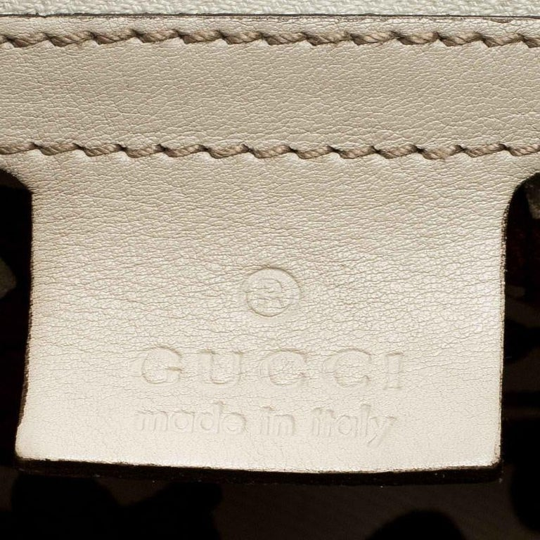 Gucci Off White Guccissima Leather New Jackie Medium Hobo For Sale 6