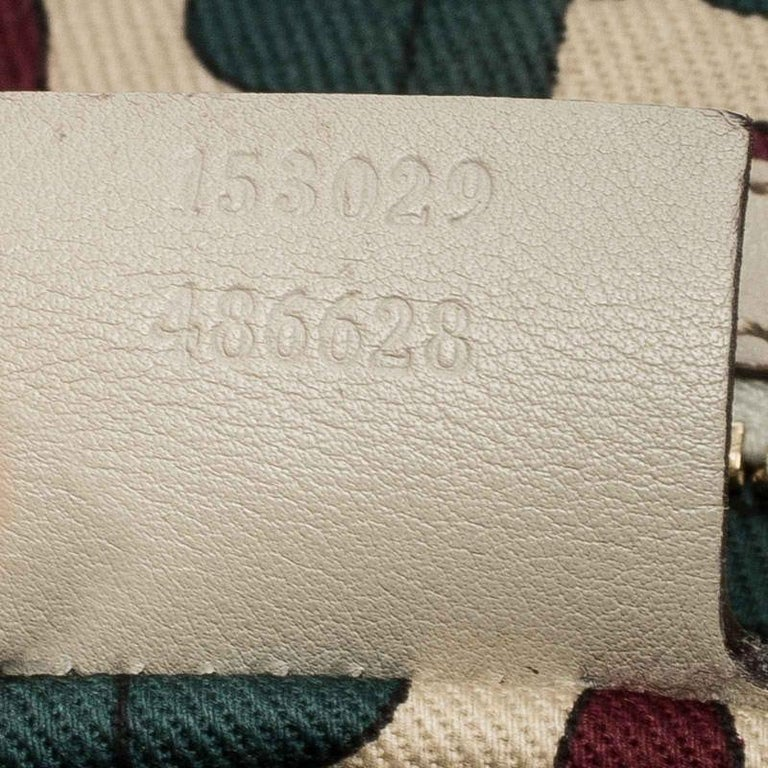 Gucci Off White Guccissima Leather New Jackie Medium Hobo For Sale 7