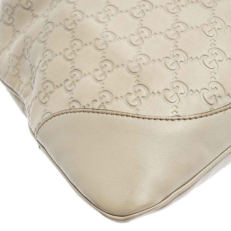 Gucci Off White Guccissima Leather New Jackie Medium Hobo For Sale 3