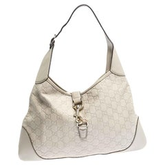 Gucci Off White Guccissima Leather New Jackie Medium Hobo