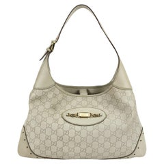 Gucci Off White Guccissima Leather Punch Bouvier Hobo Bag