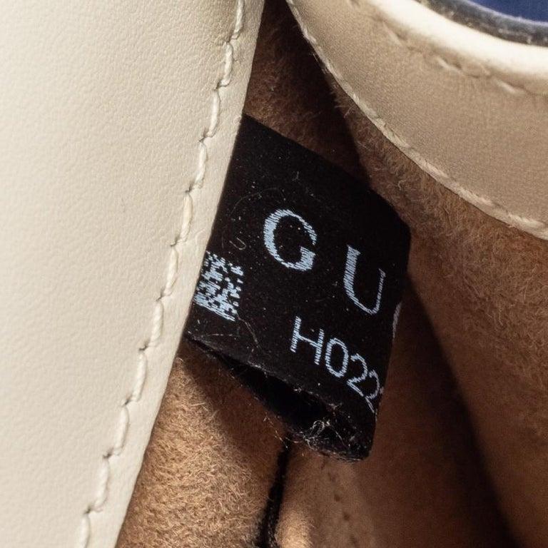 Gucci Off White Leather Mini Web Chain Sylvie Shoulder Bag 8