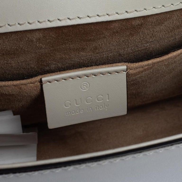 Gucci Off White Leather Mini Web Chain Sylvie Shoulder Bag 3