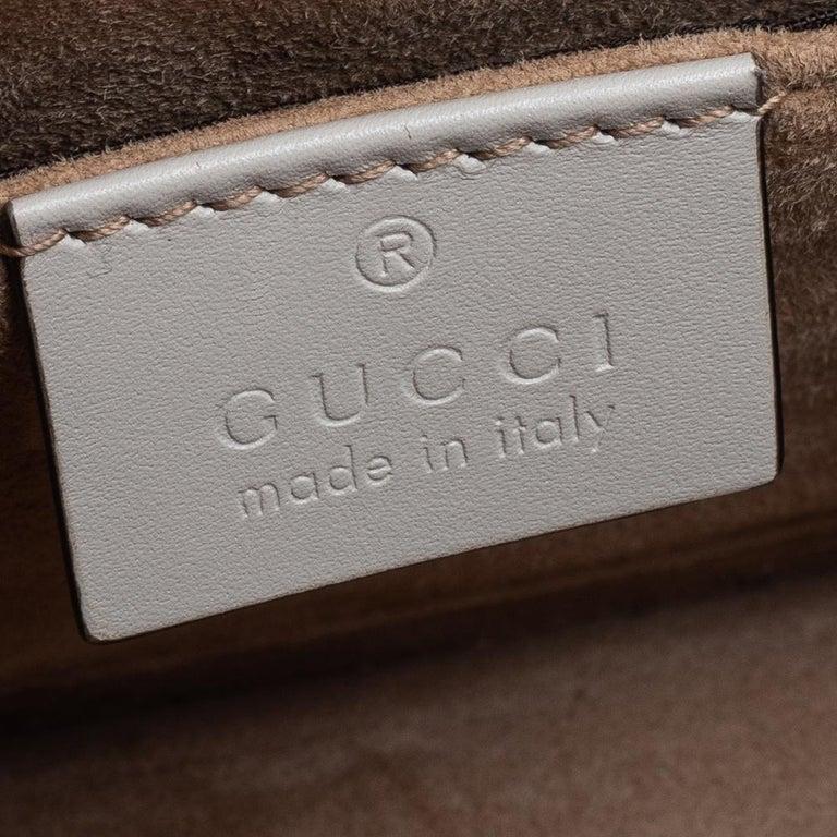 Gucci Off White Leather Mini Web Chain Sylvie Shoulder Bag 4