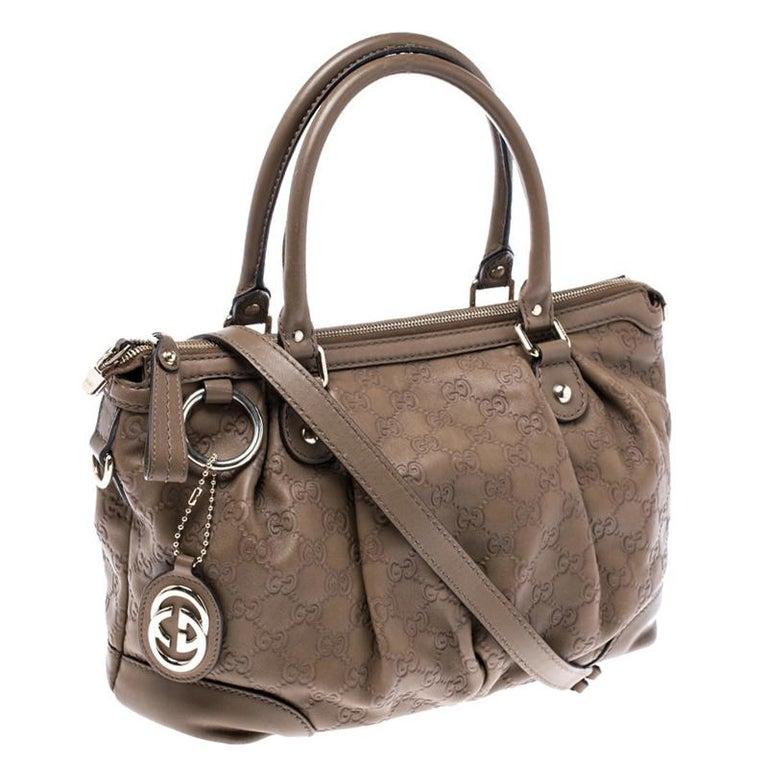 Gucci Olive Green Guccissima Leather