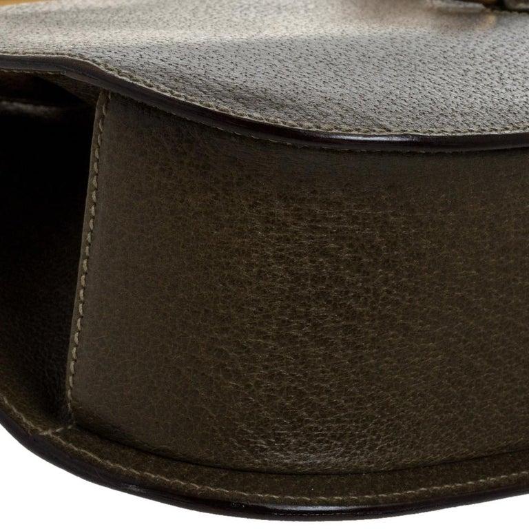 Gucci Olive Green Leather Vintage Horsebit Doctor's Bag 7