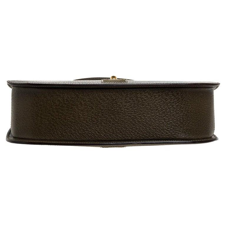 Women's Gucci Olive Green Leather Vintage Horsebit Doctor's Bag