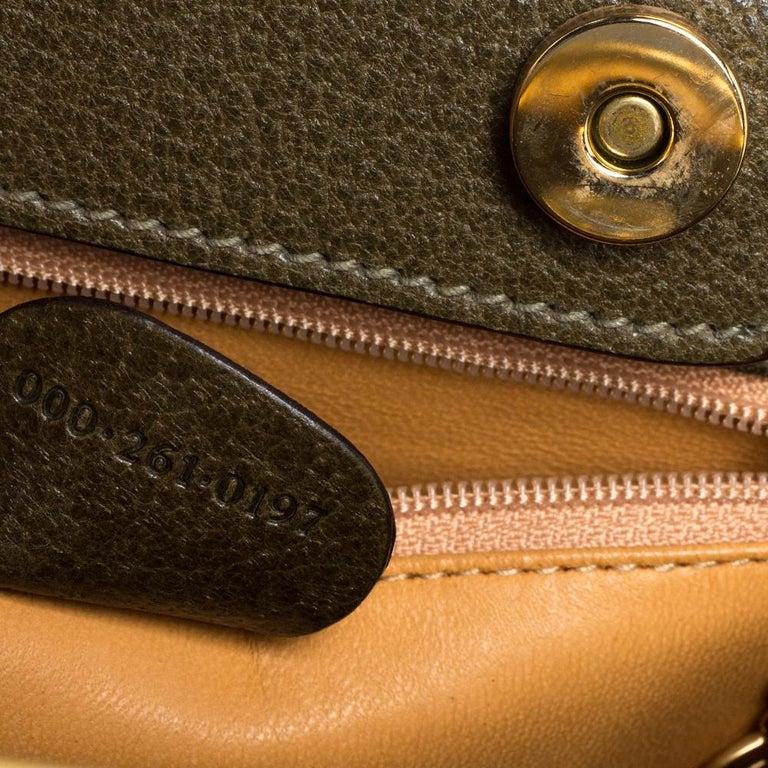 Gucci Olive Green Leather Vintage Horsebit Doctor's Bag 3
