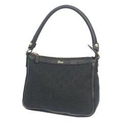 GUCCI one shoulder bag Womens handbag 146244 black x gold hardware