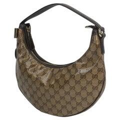 GUCCI one shoulder GG Crystal Womens shoulder bag 181493 beige x brown