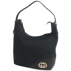 GUCCI one shoulder Interlocking Womens shoulder bag 182491 black