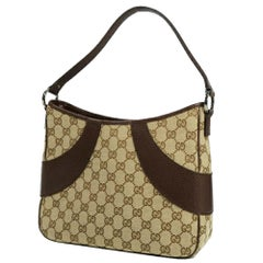 GUCCI one shoulder Womens shoulder bag 113012 beige x brown