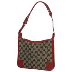 GUCCI one shoulder Womens shoulder bag4206 beige x red