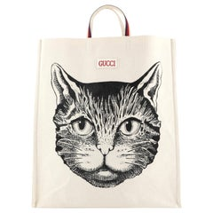 Gucci Open Shopping Tote Printed Canvas Large
