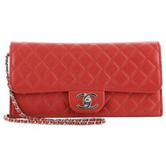 Gucci OpenChanel Wallet On Chain Clutch Quilted Lambskin East West