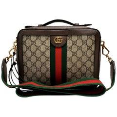 Gucci Ophelia Brown GG Supreme Top Handle Handbag