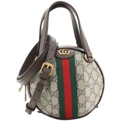 Gucci Ophidia Basketball Shoulder Bag GG Coated Canvas Mini