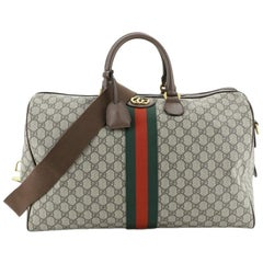 Gucci Ophidia Carry On Duffle Bag GG Coated Canvas Large