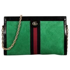Gucci Ophidia Chain Shoulder Bag Suede Medium