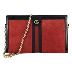 Gucci Ophidia Chain Shoulder Bag Suede Medium