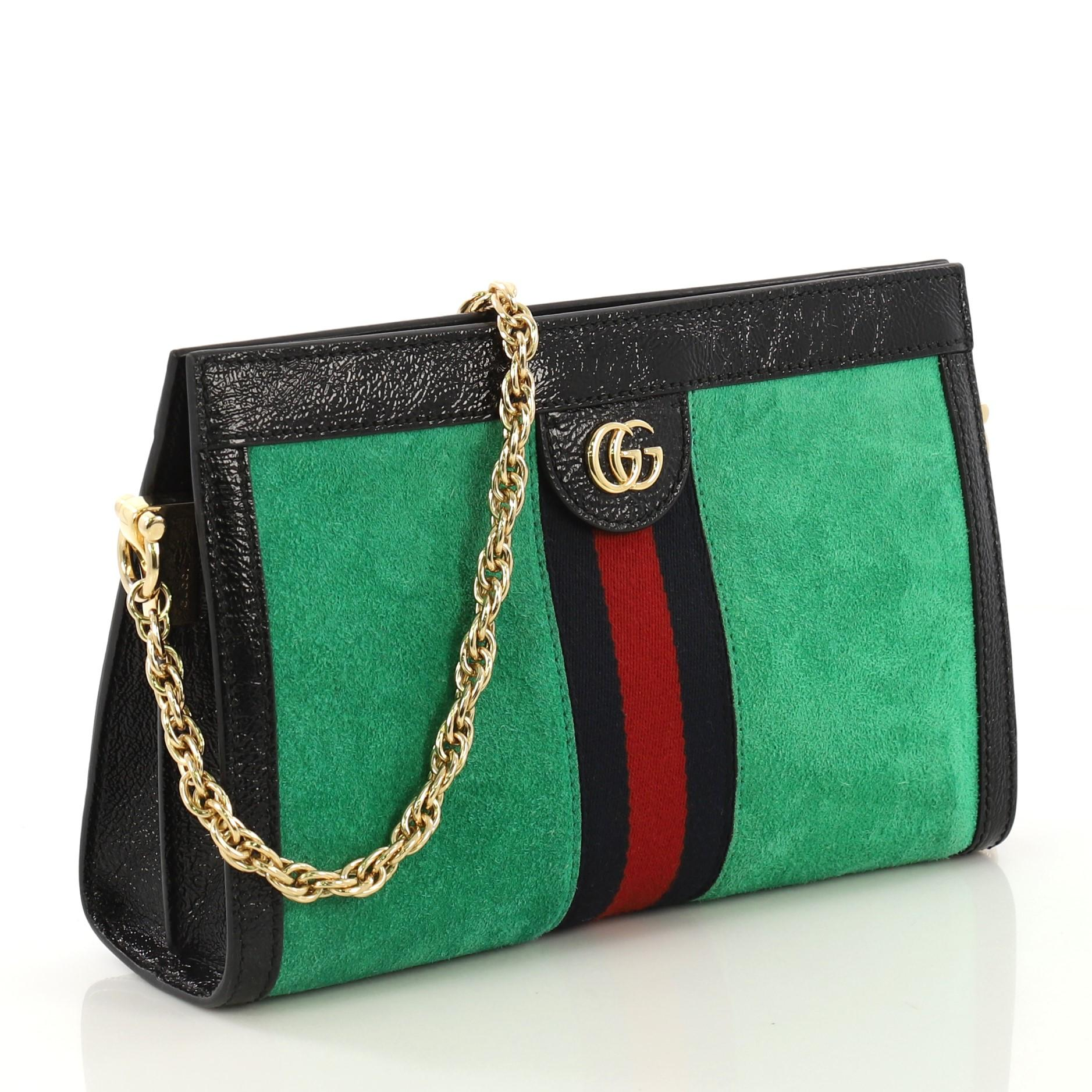 b29e4c03aeda Gucci Ophidia Chain Shoulder Bag Suede Small For Sale at 1stdibs