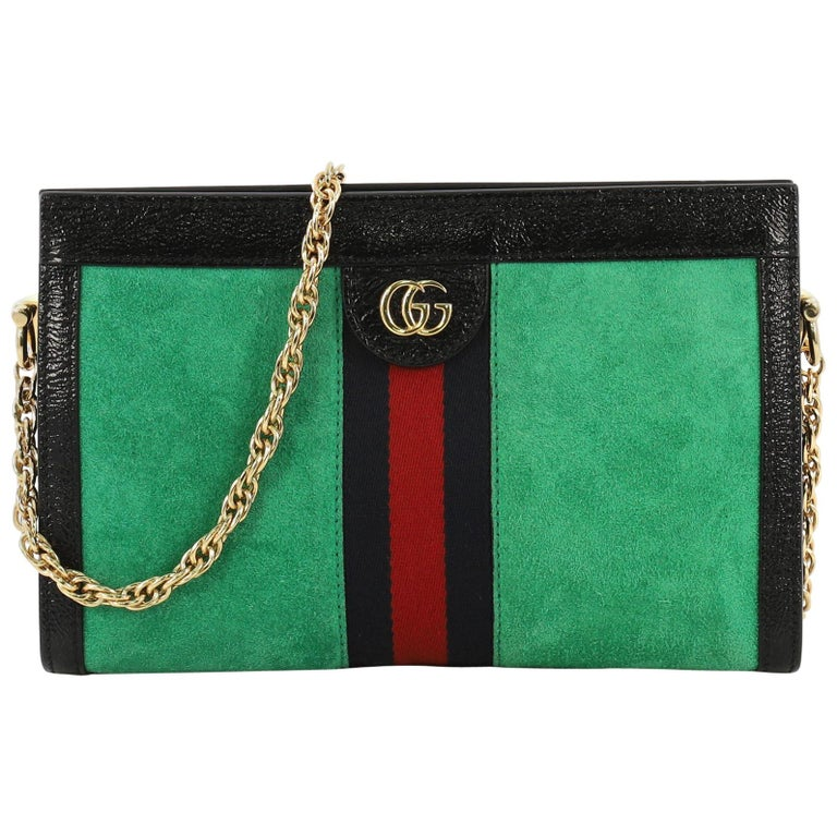 fb39073ddbca Gucci Ophidia Chain Shoulder Bag Suede Small For Sale at 1stdibs