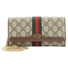 Gucci Ophidia Chain Wallet GG Coated Canvas